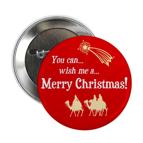 Christmas button Religion / beliefs 2.25 Button by CafePress