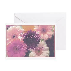 Baby Shower 'Pretty in Pink' Greeting Cards