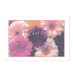 Baby Shower 'Pretty in Pink' Postcards