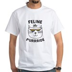 Feline the purride t-shirt design T-Shirt