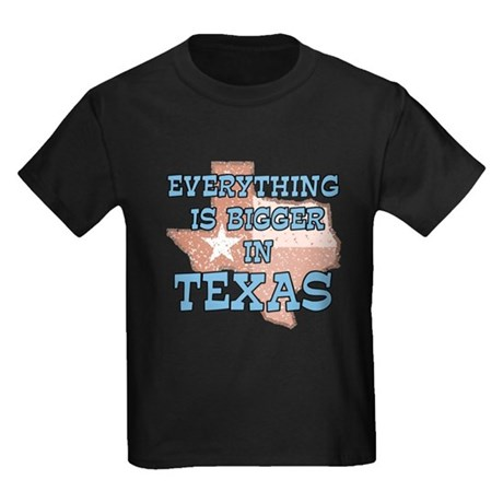 Everything is Bigger in Texas Kids Dark T-Shirt