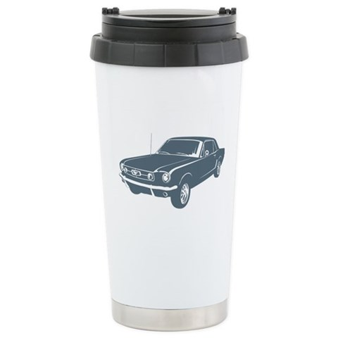 1965 Ford Mustang Coupe  Sports Ceramic Travel Mug by CafePress