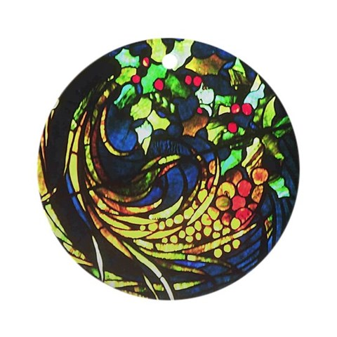 Detail from Tiffany rose window Ornament Round Christmas Round Ornament by CafePress