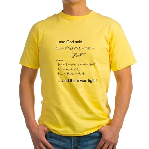 Product Image of God said, let there be light (QED) Yellow T-Shirt