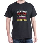 Camping Life Better With Beer And Campfire T-Shirt