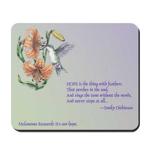 Hummingbird and Hope Bird Mousepad by CafePress