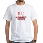 I Love Animation Design T-Shirt