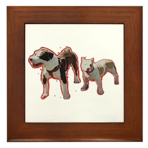 - Pitbulls Pets Framed Tile by CafePress