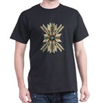 Abstract Bone and Turquoise Sunburst T-Shirt