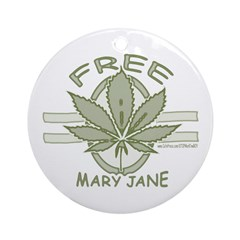Free Mary Jane Ornament (Round)