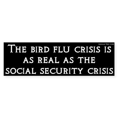 Bird Flu and Social Security Crisis Sticker