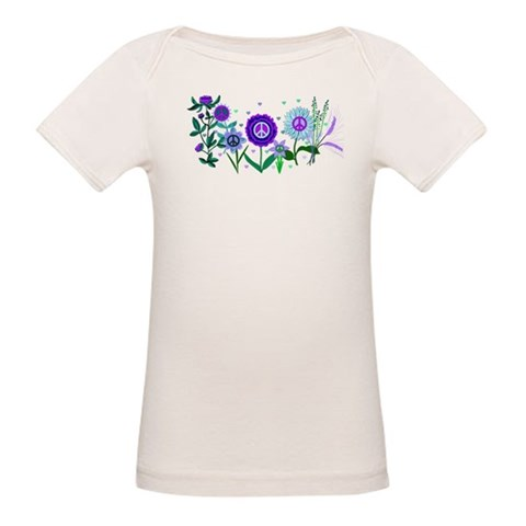 Growing Peace  Peace Organic Baby T-Shirt by CafePress