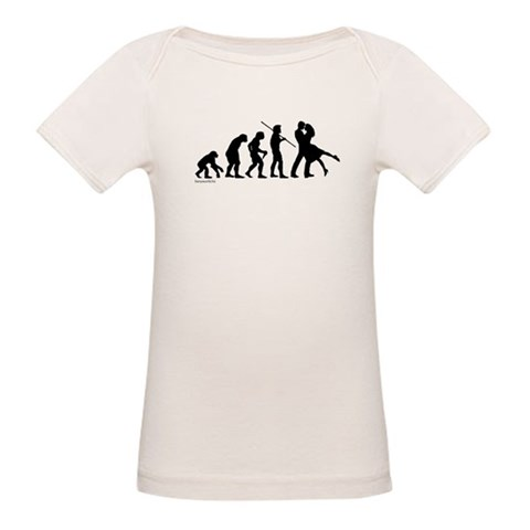 Dance Evolution  Funny Organic Baby T-Shirt by CafePress