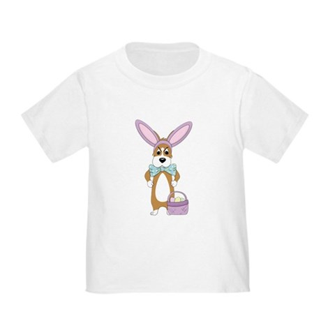 Product Image of Easter Corgi Toddler T-Shirt (Double Sided)