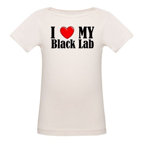 I Love My Black Lab  Pets Organic Baby T-Shirt by CafePress