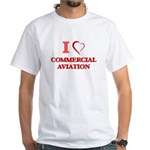 I Love Commercial Aviation T-Shirt