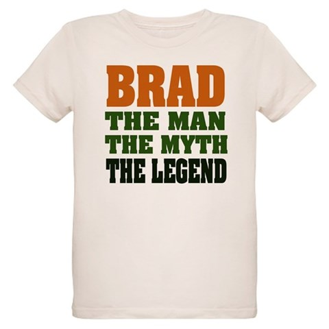 BRAD - the legend  Funny Organic Kids T-Shirt by CafePress