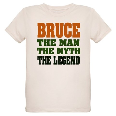 BRUCE - The Legend  Funny Organic Kids T-Shirt by CafePress