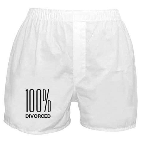 100 Percent Divorced  Wife Boxer Shorts by CafePress