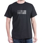 Baseball Bat American Flag Baseball Fan T-Shirt