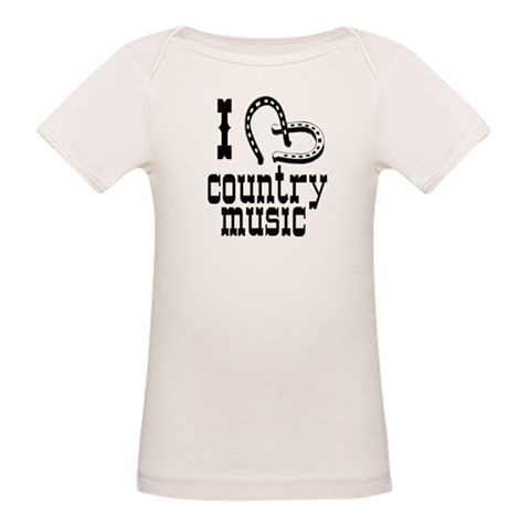 I Love Country Music  Funny Organic Baby T-Shirt by CafePress
