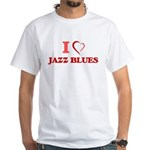 I Love JAZZ BLUES T-Shirt