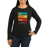 Baking Chef Eat Sleep Bake Long Sleeve T-Shirt