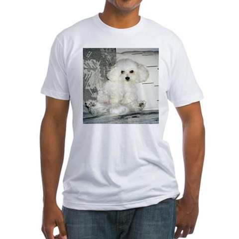 Bichon Frise Pets Fitted T-Shirt by CafePress