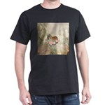 Cute cocker spaniel with flowers T-Shirt