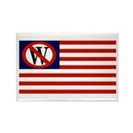 Anti-Bush American Flag Rectangle Magnet