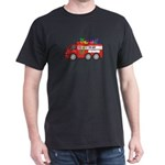 Sloth Valentine Fire Truck Hearts T-Shirt