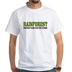 Save The Rain Forest White T-Shirt