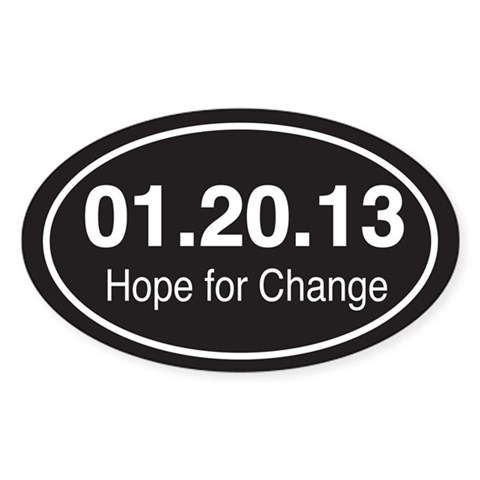 Hope for Change Republican Oval Sticker 10 pk by CafePress