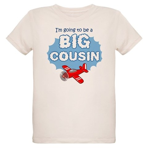 Big Cousin to be - Airplane  New baby Organic Kids T-Shirt by CafePress