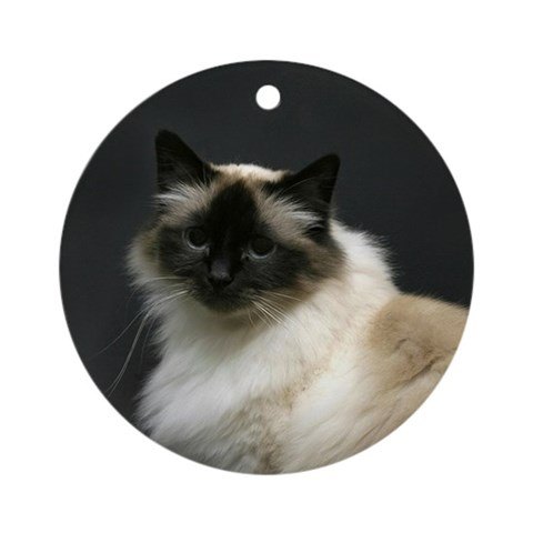Birman Keepsake Ornament Cat Round Ornament by CafePress