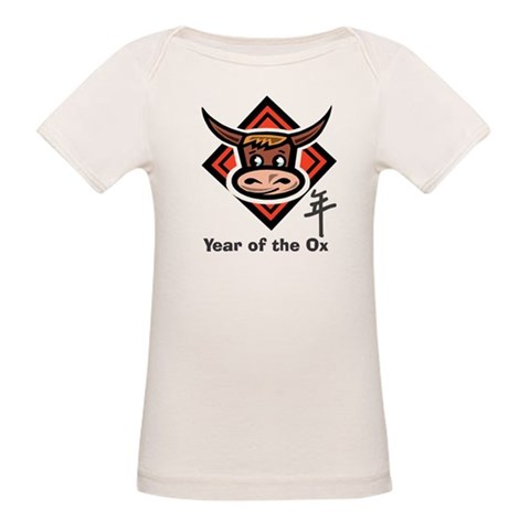 Year of the Ox Cartoon  Cool Organic Baby T-Shirt by CafePress