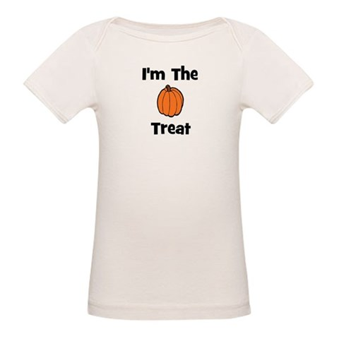 I'm The Treat pumpkin  Funny Organic Baby T-Shirt by CafePress