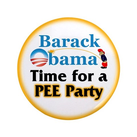Pee Party  Anti obama 3.5 Button 100 pack by CafePress