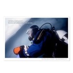 Diving Antarctica, Ice Diver - Postcards (Pkg 8)
