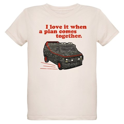 A-Team van  quote  Funny Organic Kids T-Shirt by CafePress