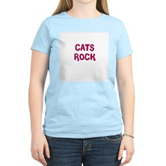 CATS ROCK Women's Pink T-Shirt