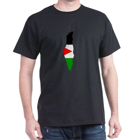 Product Image of Palestine Flag Map Dark T-Shirt
