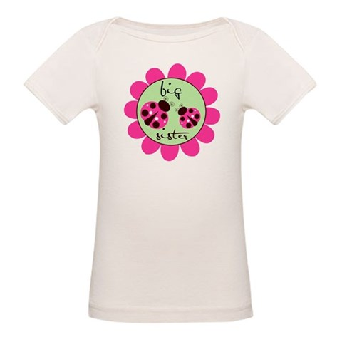 Big Sister Lady Bug  Big sister Organic Baby T-Shirt by CafePress