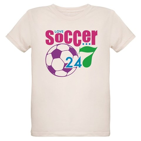 24/7 Soccer  Sports Organic Kids T-Shirt by CafePress