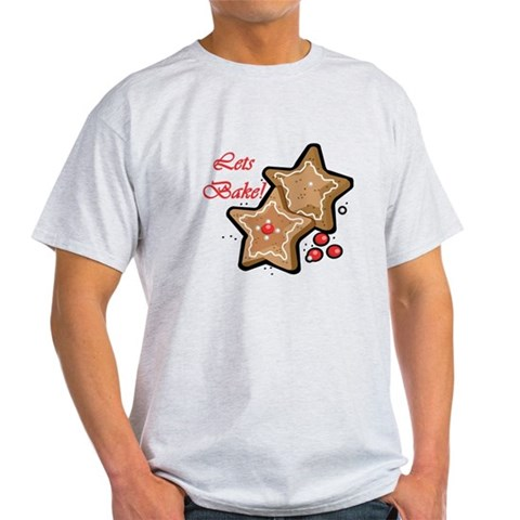 Lets Bake Christmas Cute Light T-Shirt by CafePress