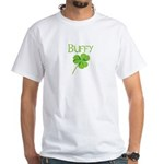 Buffy shamrock White T-Shirt