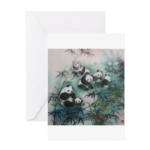 - Panda  Greeting Card by CafePress
