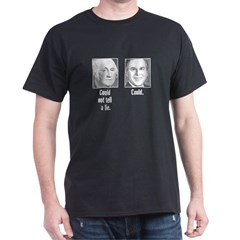 George and George Black T-Shirt