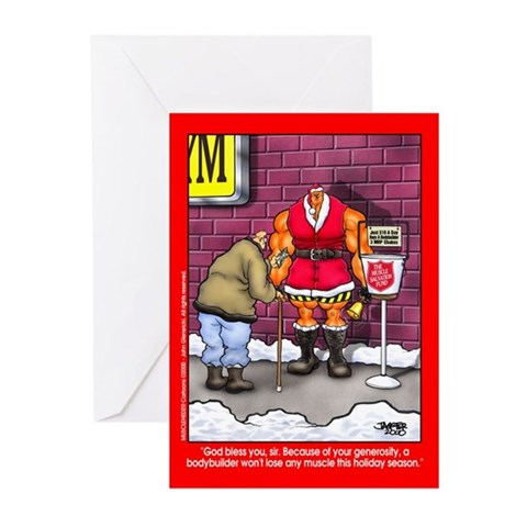Muscle Fund - Xmas Cards Pk of 10 Bodybuilding Greeting Cards Pk of 10 by CafePress