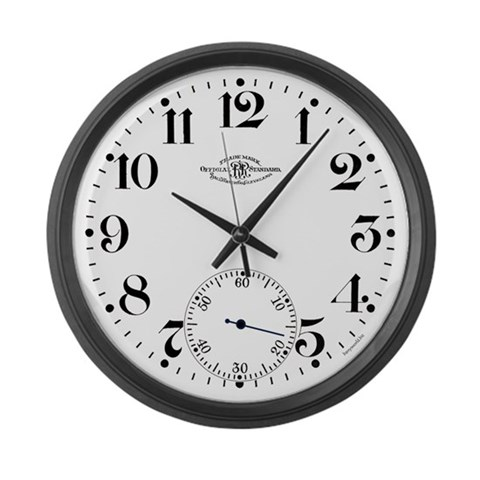 Ball Railroad Pocket Watch  Hobbies Large Wall Clock by CafePress